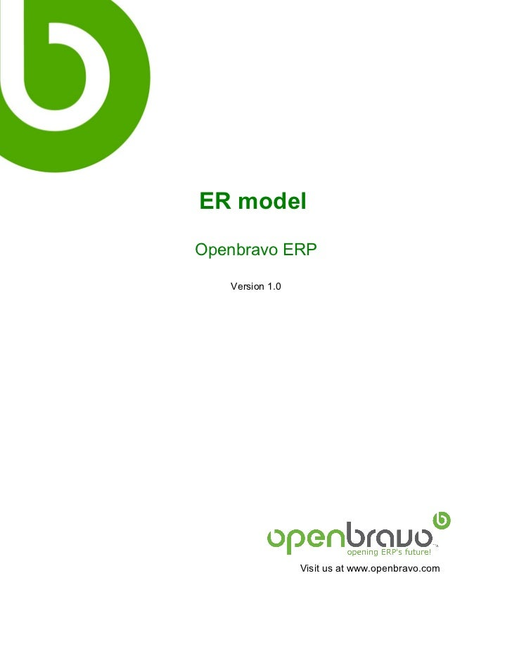 ER modelOpenbravo ERP   Version 1.0                 Visit us at www.openbravo.com