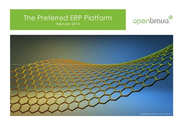 The Preferred ERP Platform February 2014 © 2014 Openbravo Inc. All Rights Reserved. Page 1 Graphene (credit: University of...