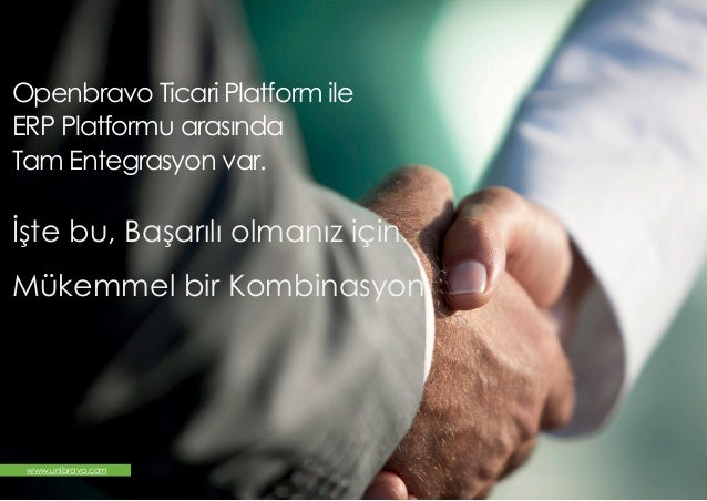 Openbravo Retail ERP Ticari Paketi, ERP Platformu Slide 2