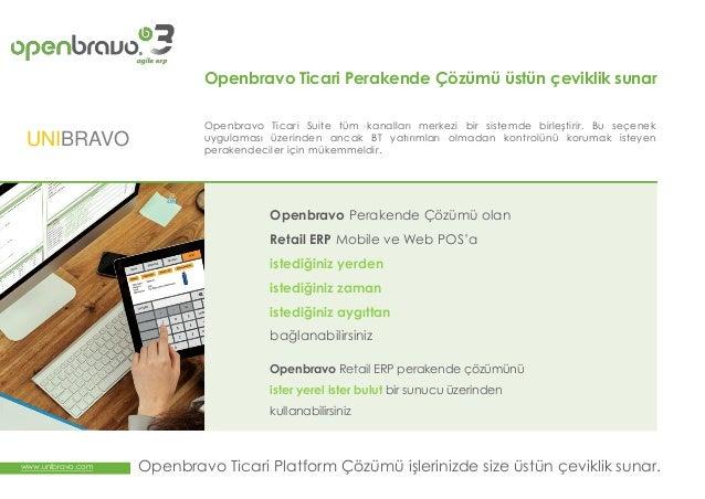 Openbravo Retail ERP Ticari Paketi, ERP Platformu Slide 3
