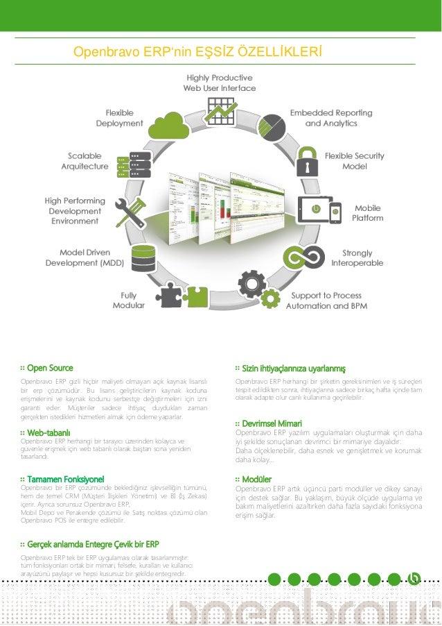 Openbravo Web Tabanlı Çevik ERP Broşürü Slide 2