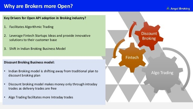 Why are Brokers more Open? Key Drivers for Open API adoption in Broking industry? 1. Facilitates Algorithmic Trading 2. Le...