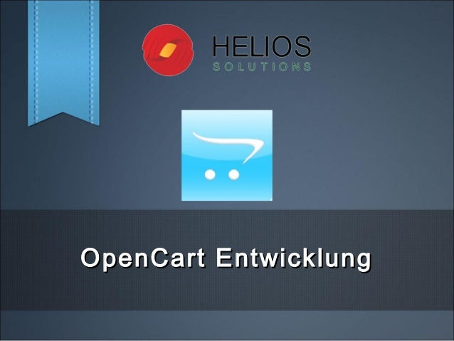 OpenCart EntwicklungOpenCart Entwicklung