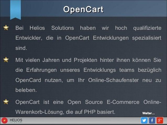 Open Cart Entwicklung Slide 2