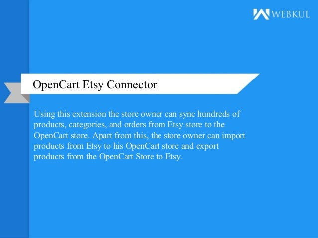 Opencart Etsy Connector