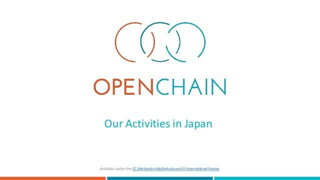Our Activities in Japan Available under the CC Attribution-NoDerivatives 4.0 International license.