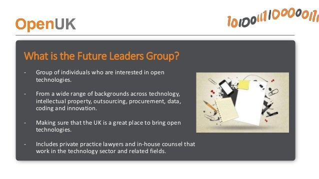 What does the Future Leaders Group get up to? • Education –Training sessions with experts from around the world focusing o...