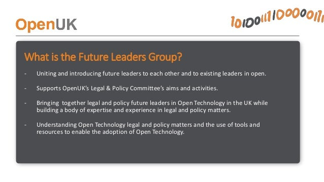 What does the Future Leaders Group get up to? • Review – Conducting a review of public procurement terms used by public bo...