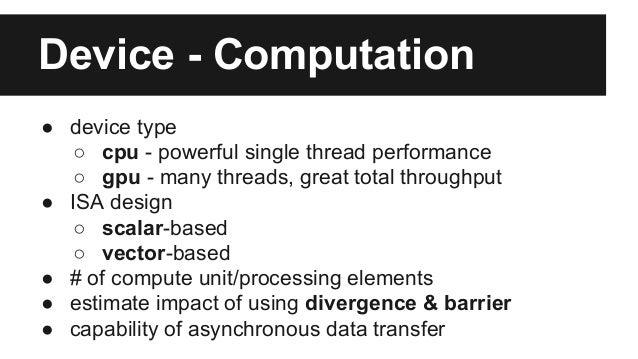 OpenCL Kernel Optimization Tips Slide 3
