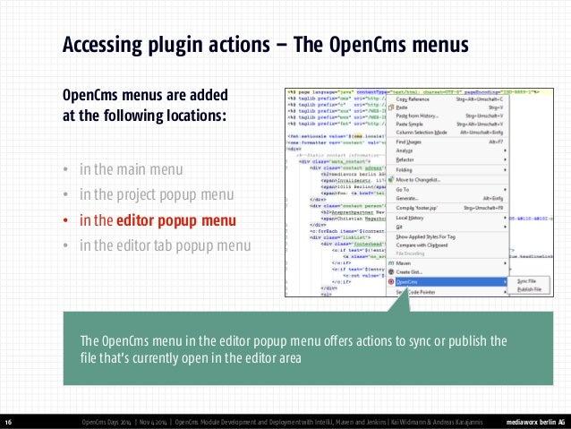 OpenCms Module Development & Deployment with IntelliJ, Maven