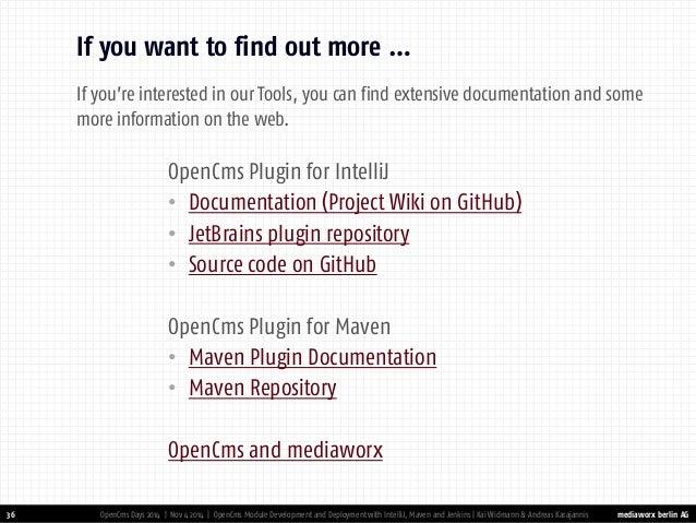 OpenCms Module Development & Deployment with IntelliJ, Maven and Jenk…