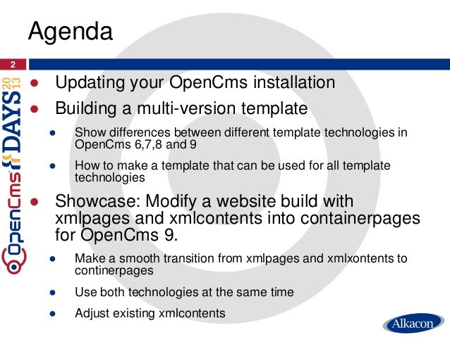 OpenCms Days 2013 - How to update smoothly to OpenCms 9ms 9 Slide 2