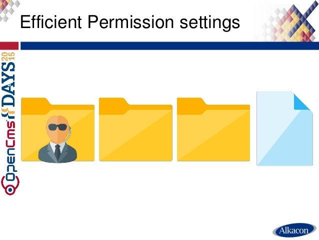 Efficient Permission settings 8