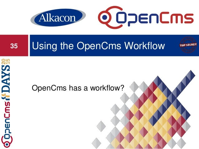 OpenCms has a workflow? Using the OpenCms Workflow35