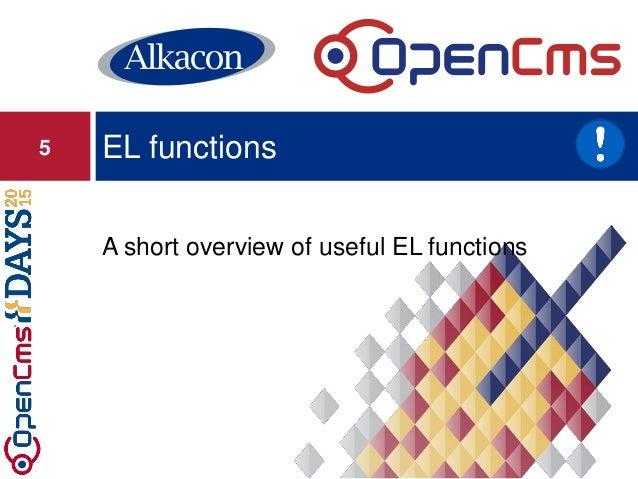 A short overview of useful EL functions EL functions5