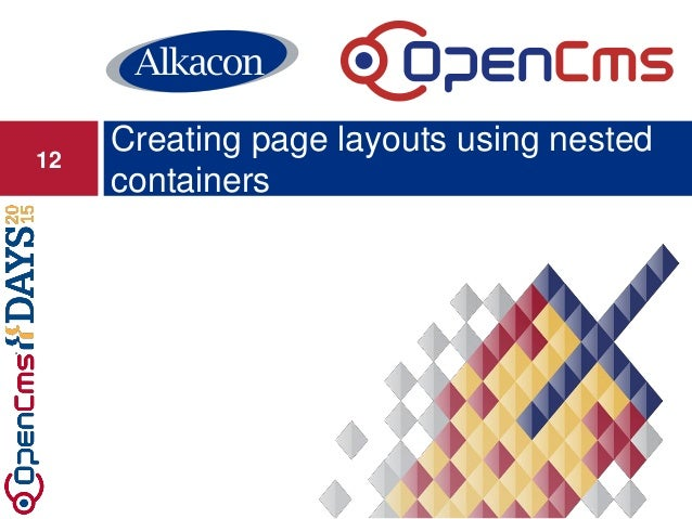 Creating page layouts using nested containers 12
