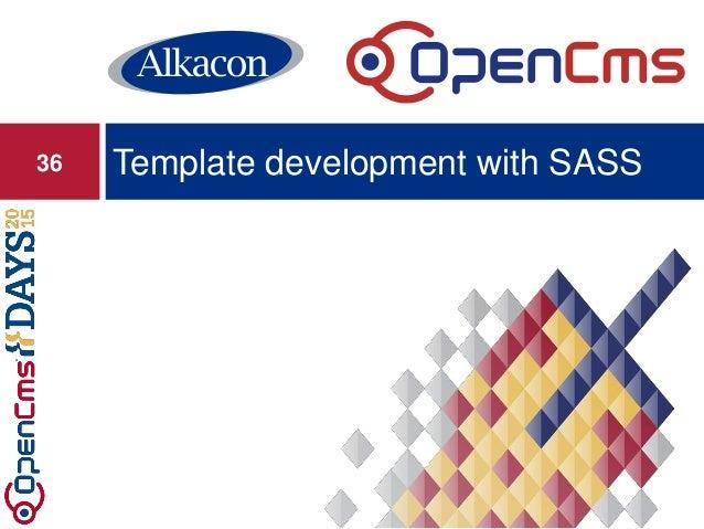 Template development with SASS36