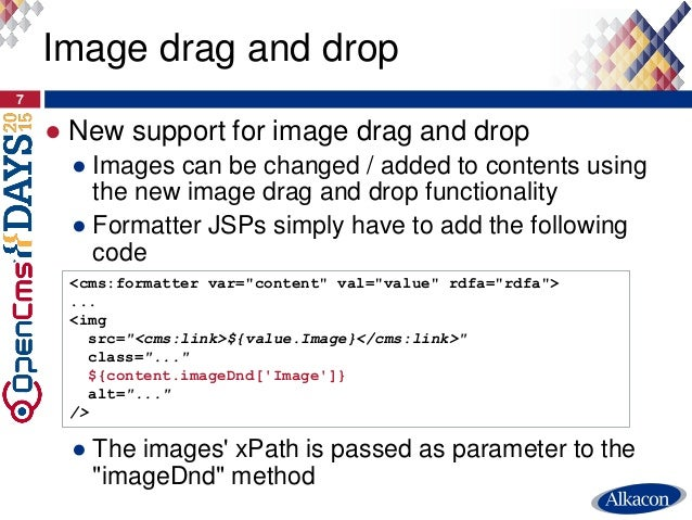 ● New support for image drag and drop ● Images can be changed / added to contents using the new image drag and drop functi...