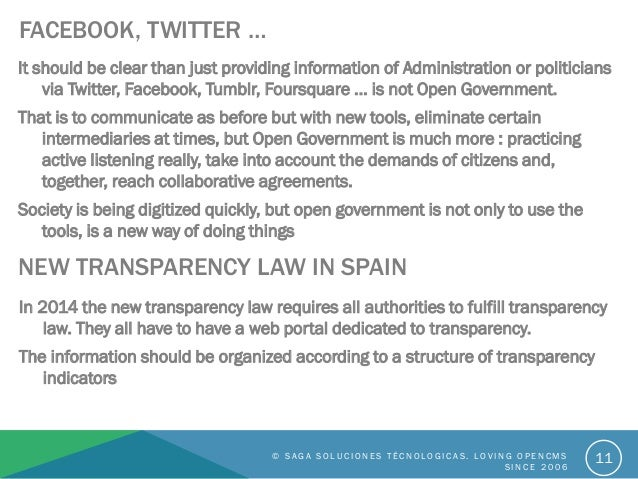 FACEBOOK, TWITTER … It should be clear than just providing information of Administration or politicians via Twitter, Faceb...
