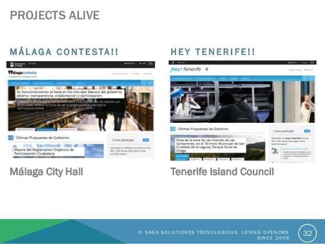 PROJECTS ALIVE M Á L A G A C O N T E S TA ! ! Málaga City Hall H E Y T E N E R I F E ! ! Tenerife Island Council © S A G A...