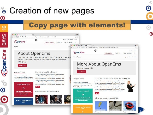 Creation of new pages Copy page with elements!