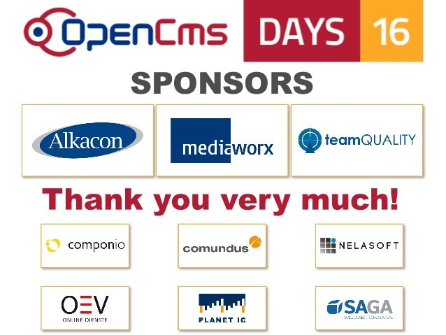 OpenCms Days 2016:   Keynote - Introducing OpenCms 10.5 Slide 2