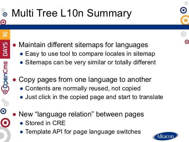 ● Maintain different sitemaps for languages ● Easy to use tool to compare locales in sitemap ● Sitemaps can be very simila...