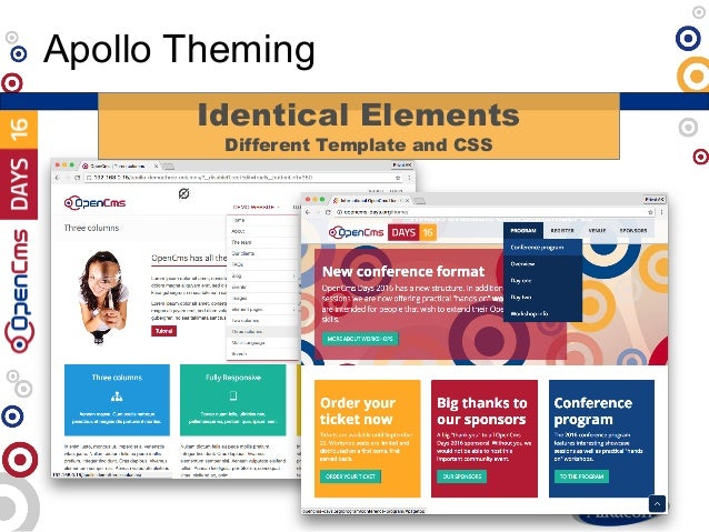 Apollo Theming Identical Elements Different Template and CSS