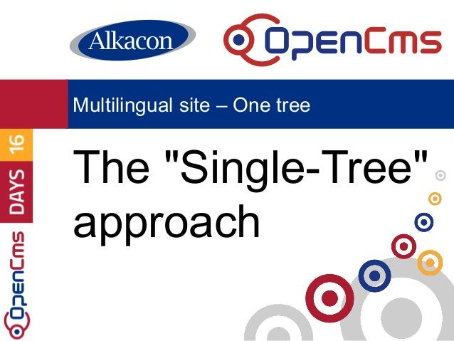 """The """"Single-Tree"""" approach Multilingual site – One tree"""