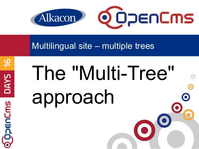 """The """"Multi-Tree"""" approach Multilingual site – multiple trees"""