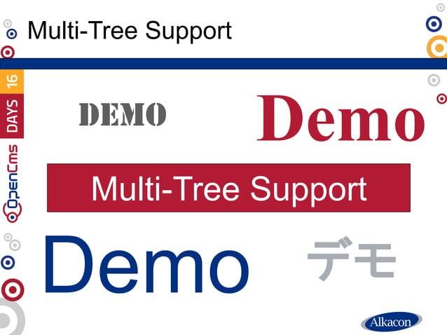 ● Live Demo Multi-Tree Support Demo DEMO Demo Demo デモ Multi-Tree Support