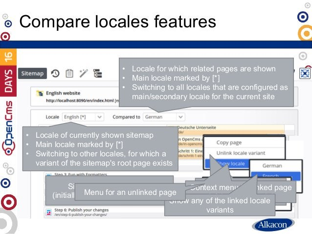 Compare locales features • Locale for which related pages are shown • Main locale marked by [*] • Switching to all locales...