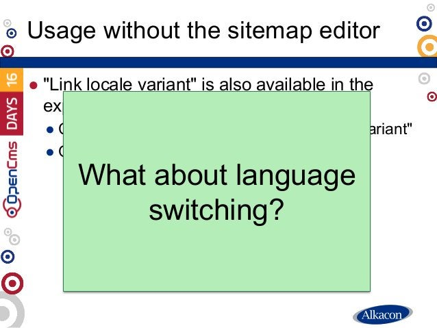 """● """"Link locale variant"""" is also available in the explorer ● Context menu à Advanced à """"Link locale variant"""" ● Only for """"in..."""