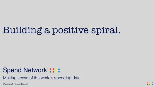 .... ....@ianmakgill @spendnetwork Spend Network .... .... Making sense of the world's spending data Building a positive s...