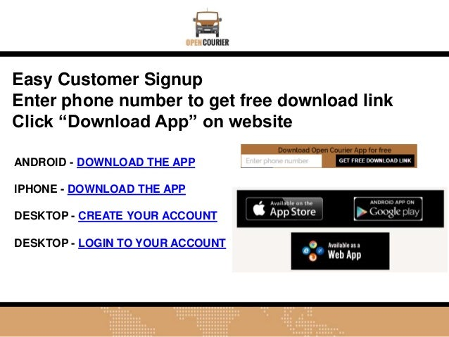 Open Courier Mobile App