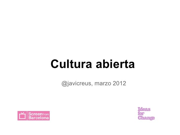 Cultura abierta
