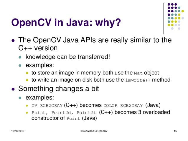Introduction to OpenCV 3 x (with Java)
