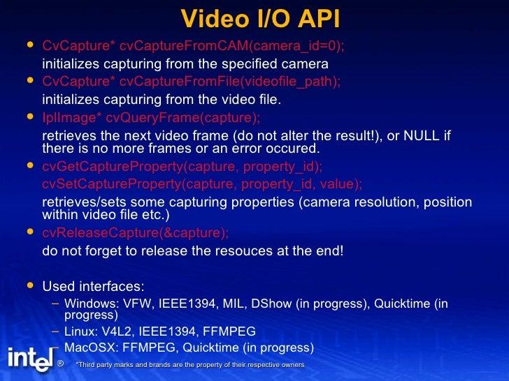 open cv 2005 q4 tutorial