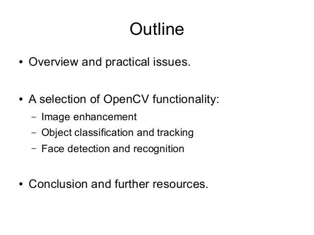 OpenCV Introduction Slide 2
