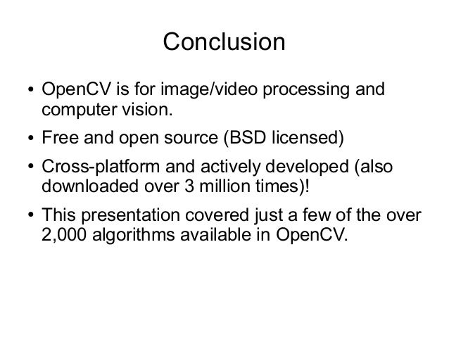 opencv introduction