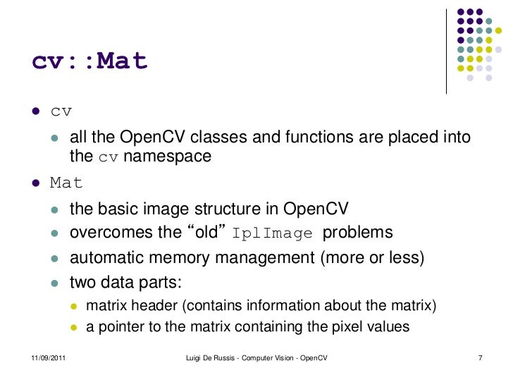 Introduction to OpenCV 2 3 1