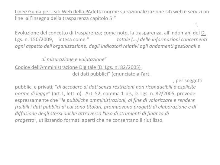 Linee Guida per i siti Web della PAdetta norme su razionalizzazione siti web e servizi online all'insegna della trasparenz...