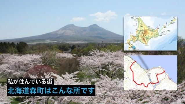 地理院地図及びOSM 北海道森町はこんな所です 私が住んでいる街