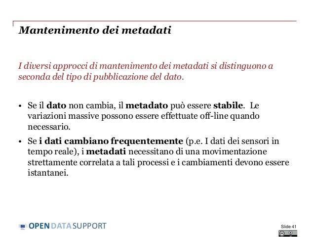 Open Data Support onsite training in Italy (Italian)
