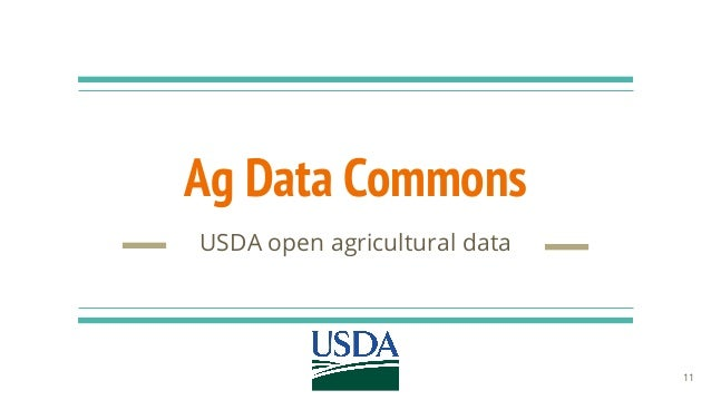 Ag Data Commons USDA open agricultural data 11
