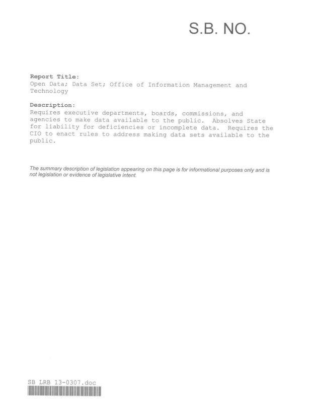 Hawaii Open Data Bill