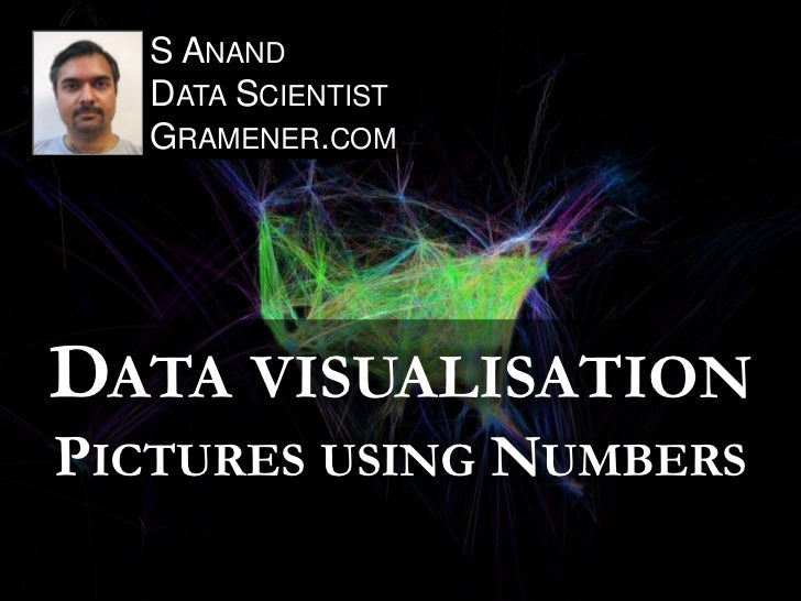 S ANAND   DATA SCIENTIST   GRAMENER.COMDATA VISUALISATIONPICTURES USING NUMBERS