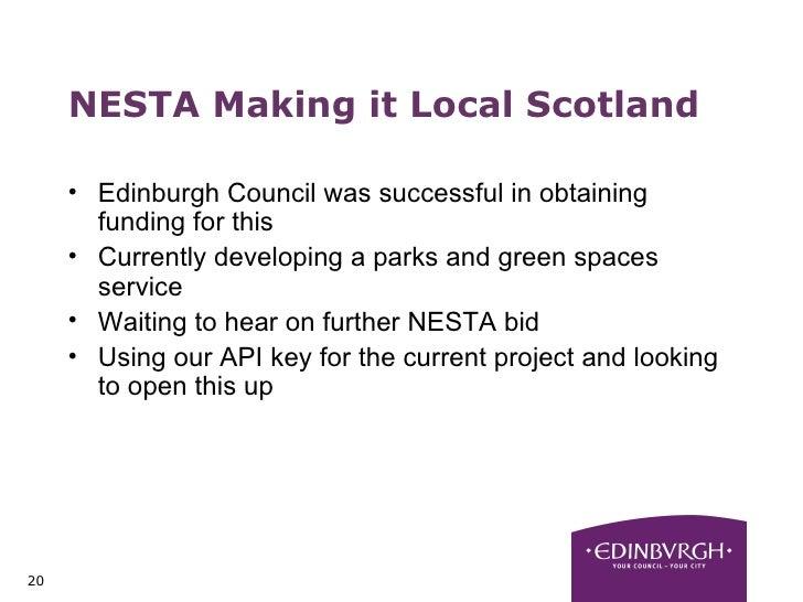 Open Data at Edinburgh City Council