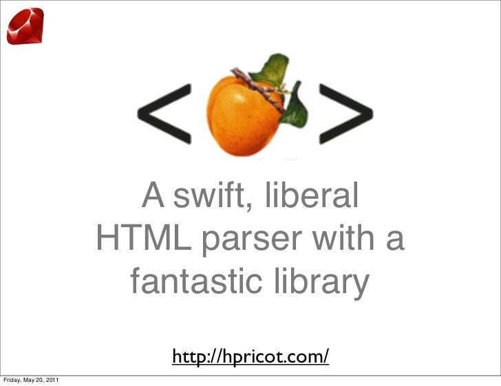 A swift, liberal                       HTML parser with a                        fantastic library                        ...