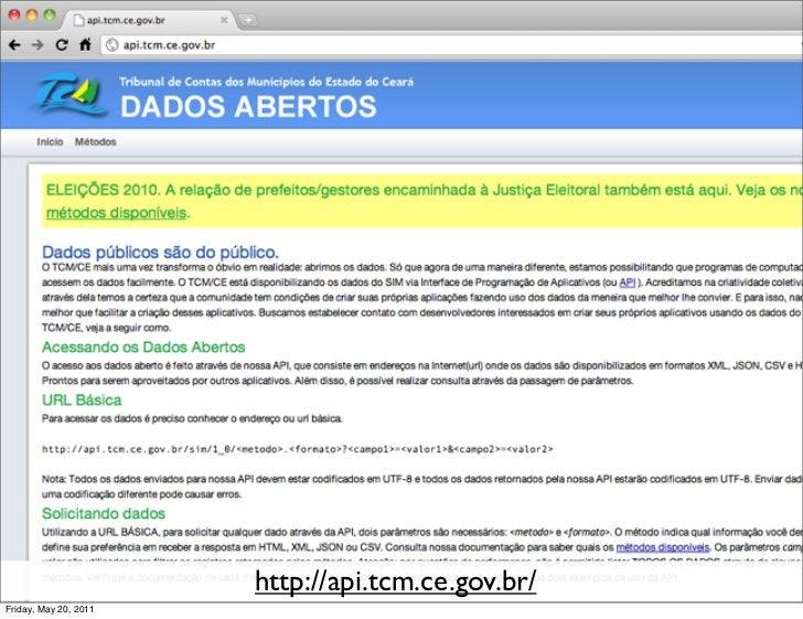 http://api.tcm.ce.gov.br/Friday, May 20, 2011